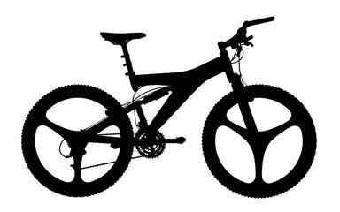 Silhouette eines Mountainbike