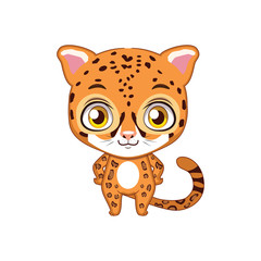 Cute stylized cartoon jaguar illustration ( for fun educational purposes, illustrations etc. )
