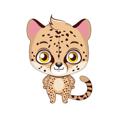 Cute stylized cartoon cheetah illustration ( for fun educational purposes, illustrations etc. )