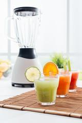 Blender and fruit juice