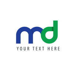 Initial Letter MD Rounded Lowercase Logo