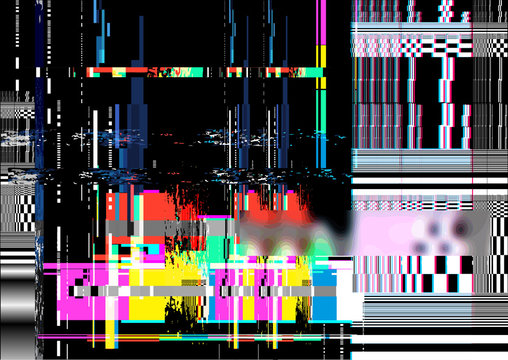 A glitch noise distortion texture background. Vector illustration