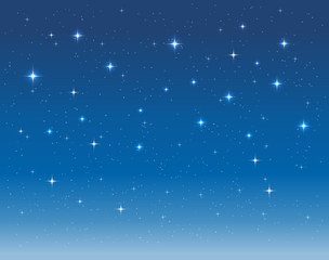 starry sky in the night. vector background