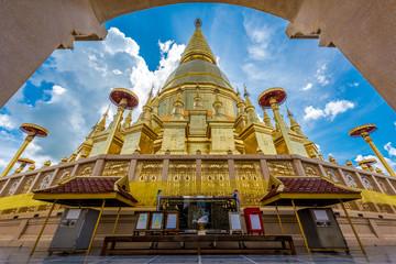 Wat Prabudhabaht Huay Toom, Phamahatrad jade sri wiang chai at Li,Lamphun province,Thailand (Shwedagon pagoda Model)