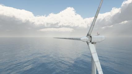Wind Turbine im Meer
