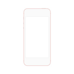 Mobile phone with blank screen isolated on white background - Vector