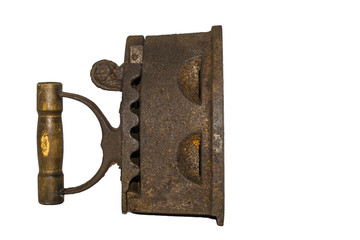 ancient iron on a white background