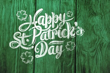 Digital composite of Patricks day greeting Wall mural