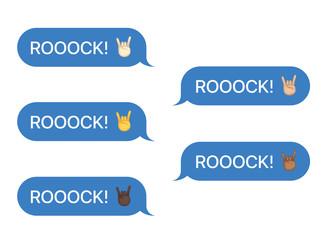 Set of SMS bubbles messages
