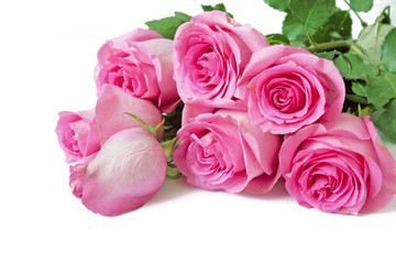 Beautiful pink rose bunch