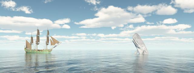 Walfänger und Pottwal