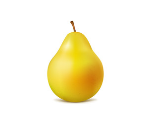 fresh pear on white background