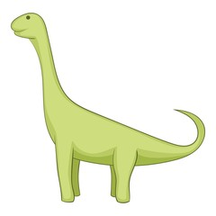 Brachiosaurus icon, cartoon style
