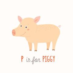 Animal alphabet : P for the Pig