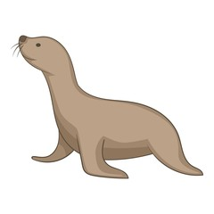 Seal animal icon, cartoon style