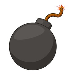 Retro bomb icon, cartoon style