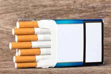 Pack of cigarettes with copy-space
