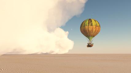 Sandsturm und Fantasie Heißluftballon