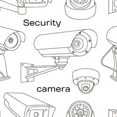 Vector set of security camera pattern