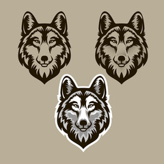 Wolf head vector illustration