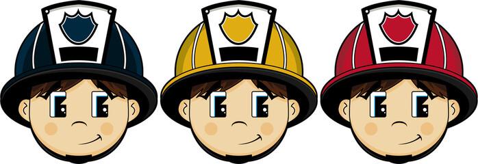 Cartoon Firefighter - Fireman