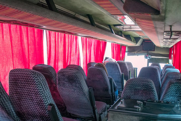 bus travel empty seats in cabin