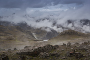 Cloudscape in the Andes of Bolivia
