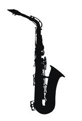 Silhouette eines Saxophons