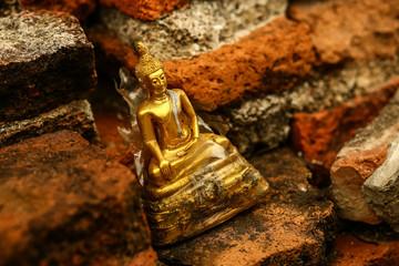 Small Buddha statue in Ayutthaya, Thailand