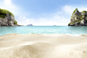 summer landscape with sea and sand