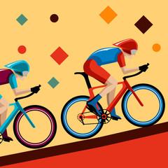 bicycle tournament background retro