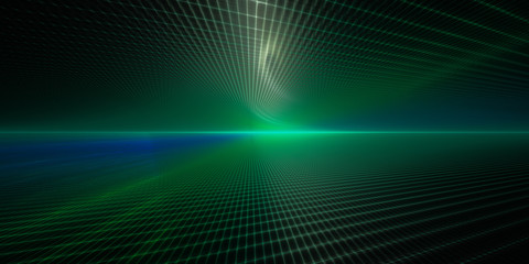 Abstract background element. Grid planes perspective. Retro sci fi style. Time and space concept.