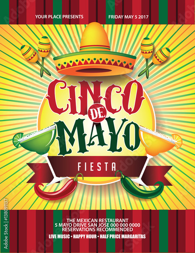 cinco de mayo poster design marketing advertising or invitation