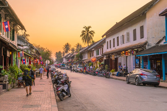 Street in old town Luang Prabang