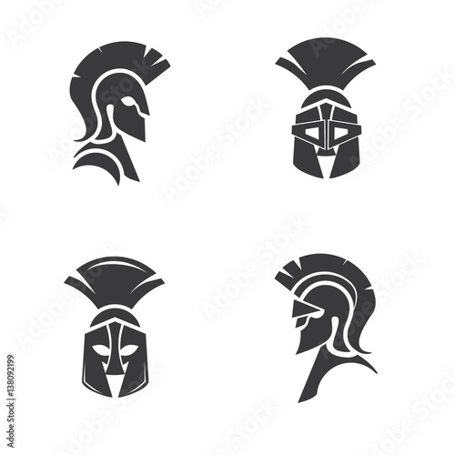 quotwarrior icon in spartan style stylized helmet and