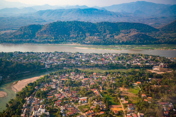 Luang Prabang skyline from top view