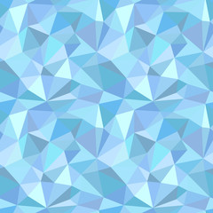 Abstract polygonal seamless pattern. Vector illustration of crystal surface in low poly style for background. Picture made of triangles in amethyst lighr blue colors. Gemstone surface.