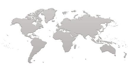 世界地図 パース