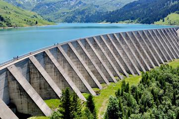 Papiers peints Barrage barrage de Roselend en Savoie