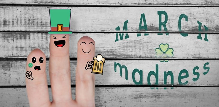 Patricks day hands with message