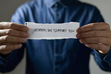 text women we support you