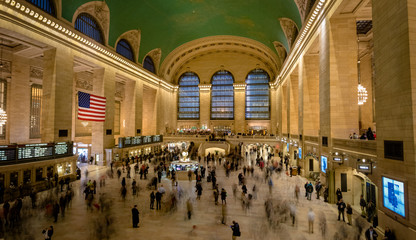 Interior of Grand Central Station in New York