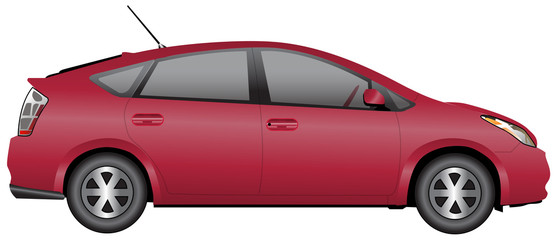 Red Compact Car
