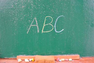 School chalkboard wirtting
