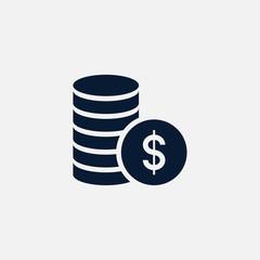 Money icon simple illustration