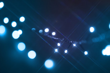 Blurred christmas tree lights on background