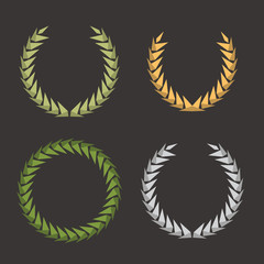 Laurel Leaf Wreath Polygon Set