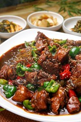 jjim dak. Andong-style Braised Spicy Chicken with Vegetables.