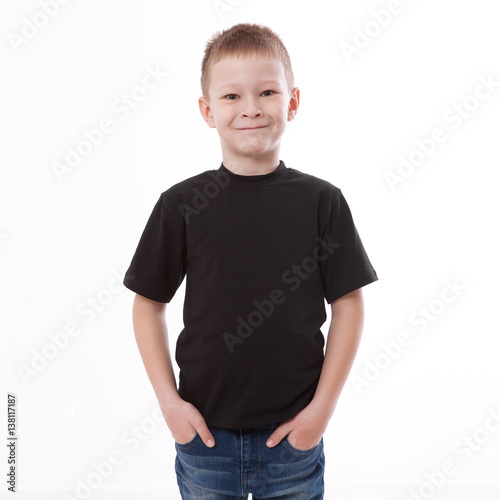 9d1465dd t-shirt design and people concept - close up of young man in blank black t- shirt, shirt front and rear isolated.