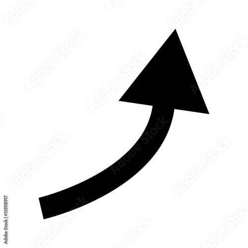 quotblack curved arrowquot stock image and royaltyfree vector